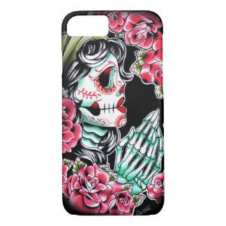 Dia De Los Muertos Sugar Skull Tattoo Flash iPhone 7 Case