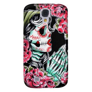 Dia De Los Muertos Sugar Skull Tattoo Flash Samsung Galaxy S4 Case