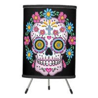 Dia de los Muertos Sugar Skull Tripod Lamp