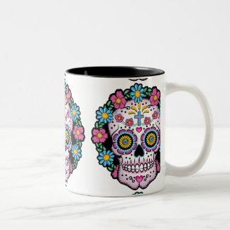 Dia de los Muertos Sugar Skull Two-Tone Coffee Mug
