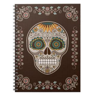 Dia de los Muertos sunflower sugar skull Notebooks