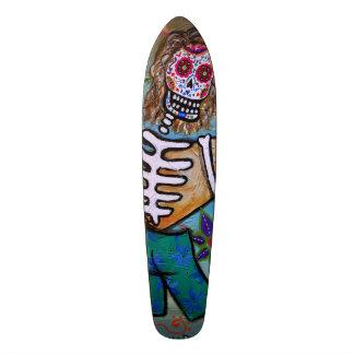 Dia de los Muertos Surfer Skateboard