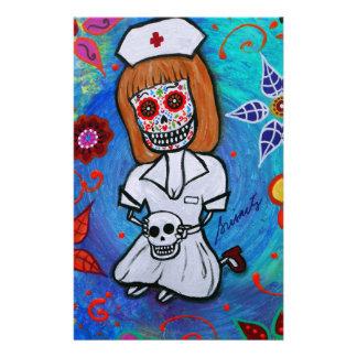 Dia de los Muertos Sweet Nurse Stationery