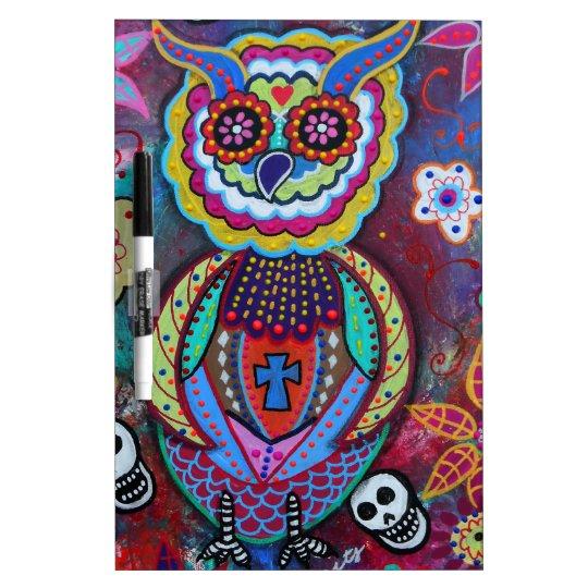 DIA DE LOS MUERTOS TALAVERA WISE OWL DRY ERASE BOARD