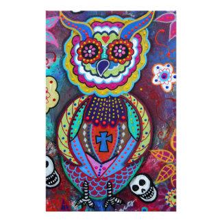 DIA DE LOS MUERTOS TALAVERA WISE OWL STATIONERY