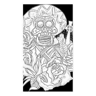dia de los muertos tarjetas de visita