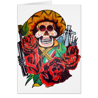 dia de los muertos tarjeta de felicitación