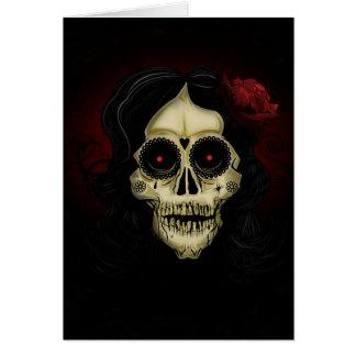 Día de los muertos tarjeta de felicitación