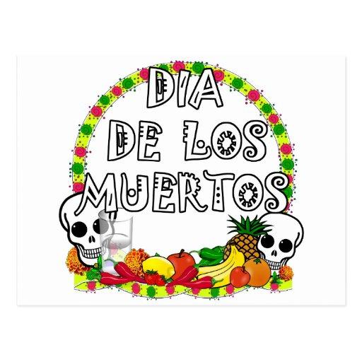 Dia De Los Muertos Tarjeta Postal