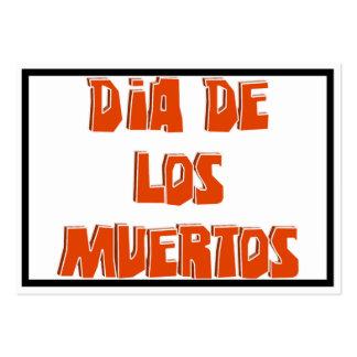 DIA DE LOS MUERTOS Text Design Business Cards