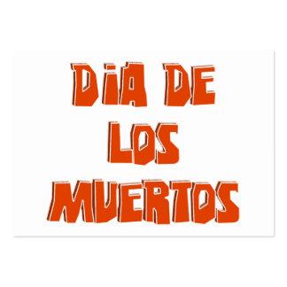 DIA DE LOS MUERTOS Text Design Business Card Templates