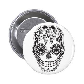 Dia de los Muertos That Girl Skull Pinback Buttons