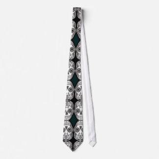 Dia de los Muertos That Girl Skull Diamond Pattern Neck Tie