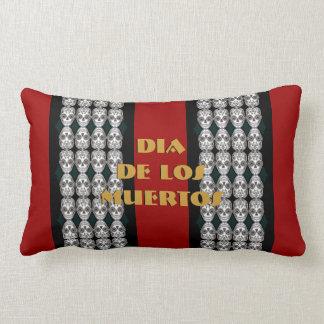 Dia de los Muertos That Girl Skull Diamond Pattern Pillows