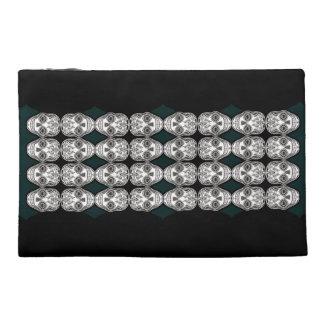 Dia de los Muertos That Girl Skull Diamond Pattern Travel Accessories Bags