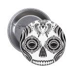 Dia de los Muertos That Girl Skull Pinback Button