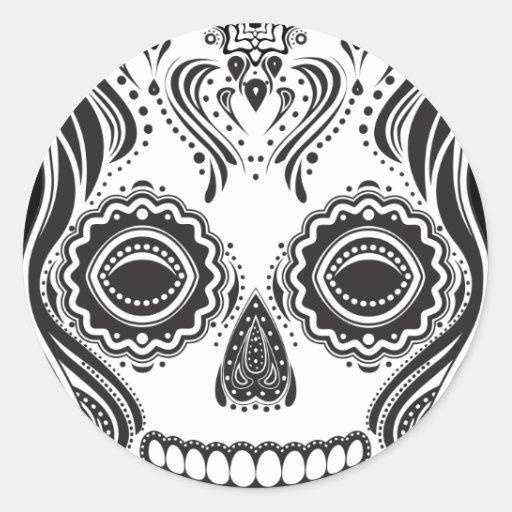 Dia de los Muertos That Girl Skull Stickers