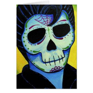 Dia de los Muertos The King of Rock Card