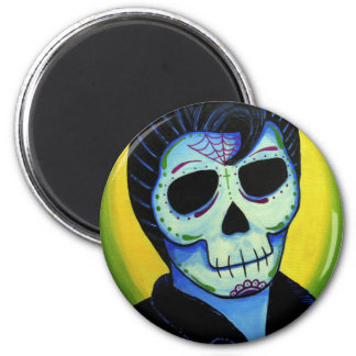 Dia de los Muertos The King of Rock Fridge Magnet