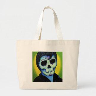 Dia de los Muertos The King of Rock Tote Bag