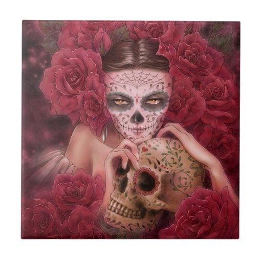 Dia de los Muertos Tile Tejas