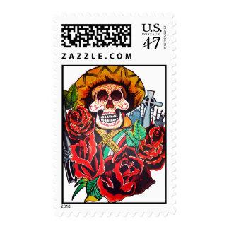dia de los muertos timbre postal