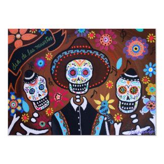 Dia de los Muertos Tres Amigos Mariachi Personalized Announcement