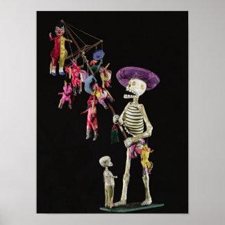 Día de los muertos: Vendedor ambulante del juguete Posters
