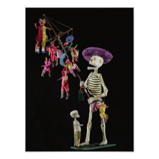Día de los muertos: Vendedor ambulante del juguete Póster