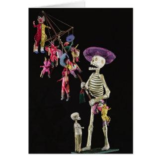 Día de los muertos: Vendedor ambulante del juguete Tarjeta De Felicitación
