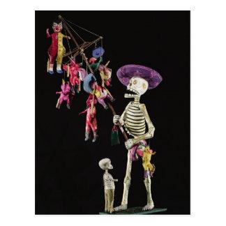 Día de los muertos: Vendedor ambulante del juguete Tarjeta Postal