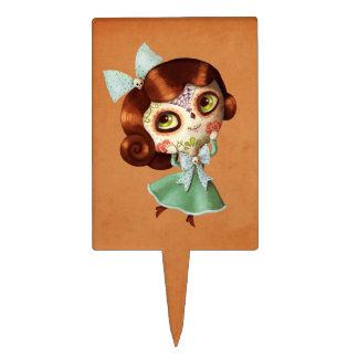Dia de Los Muertos Vintage Doll Cake Topper