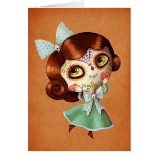 Dia de Los Muertos Vintage Doll Card