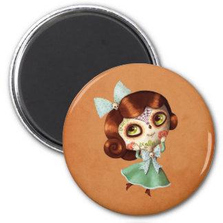 Dia de Los Muertos Vintage Doll Magnet