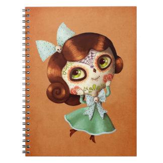 Dia de Los Muertos Vintage Doll Notebook