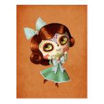 Dia De Los Muertos Vintage Doll Postcard at Zazzle