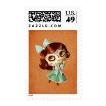 Dia de Los Muertos Vintage Doll Stamps