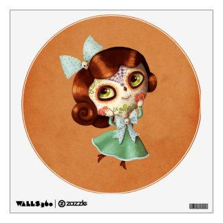 Dia de Los Muertos Vintage Doll Wall Sticker
