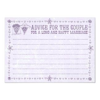 """Dia de los Muertos Wedding Advice Cards 4.5"""" X 6.25"""" Invitation Card"""