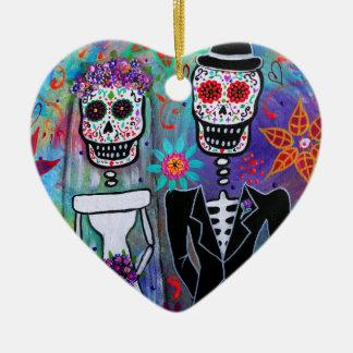 DIA DE LOS MUERTOS WEDDING CERAMIC ORNAMENT