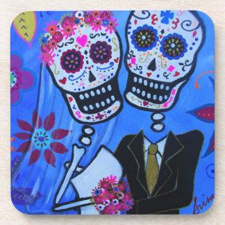Dia de los Muertos Wedding Coaster