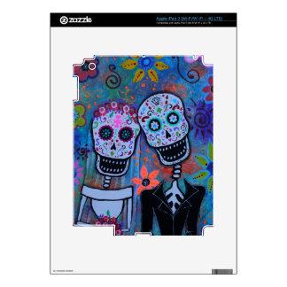 DIA DE LOS MUERTOS WEDDING COUPLE BY PRISARTS iPad 3 SKIN