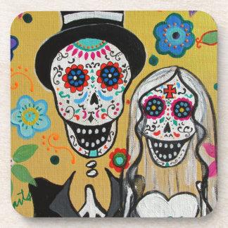 dIA DE LOS mUERTOS wEDDING cOUPLE Coaster