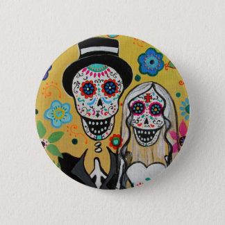 dIA DE LOS mUERTOS wEDDING cOUPLE Pinback Button