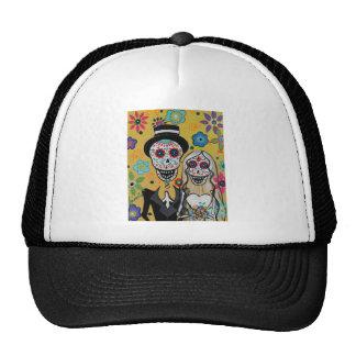 dIA DE LOS mUERTOS wEDDING cOUPLE Trucker Hat