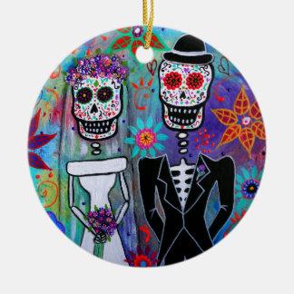 DIA DE LOS MUERTOS WEDDING ORNAMENTS PARA ARBOL DE NAVIDAD