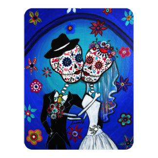 DIA DE LOS MUERTOS WEDDING 4.25X5.5 PAPER INVITATION CARD