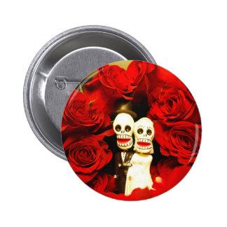 Dia de los Muertos Wedding Pinback Button