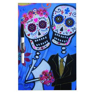 Dia de los Muertos Wedding Pizarra