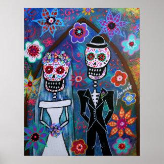DIA DE LOS MUERTOS WEDDING PÓSTER